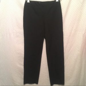 Chico's Black Straight Leg Cotton Stretch Pants